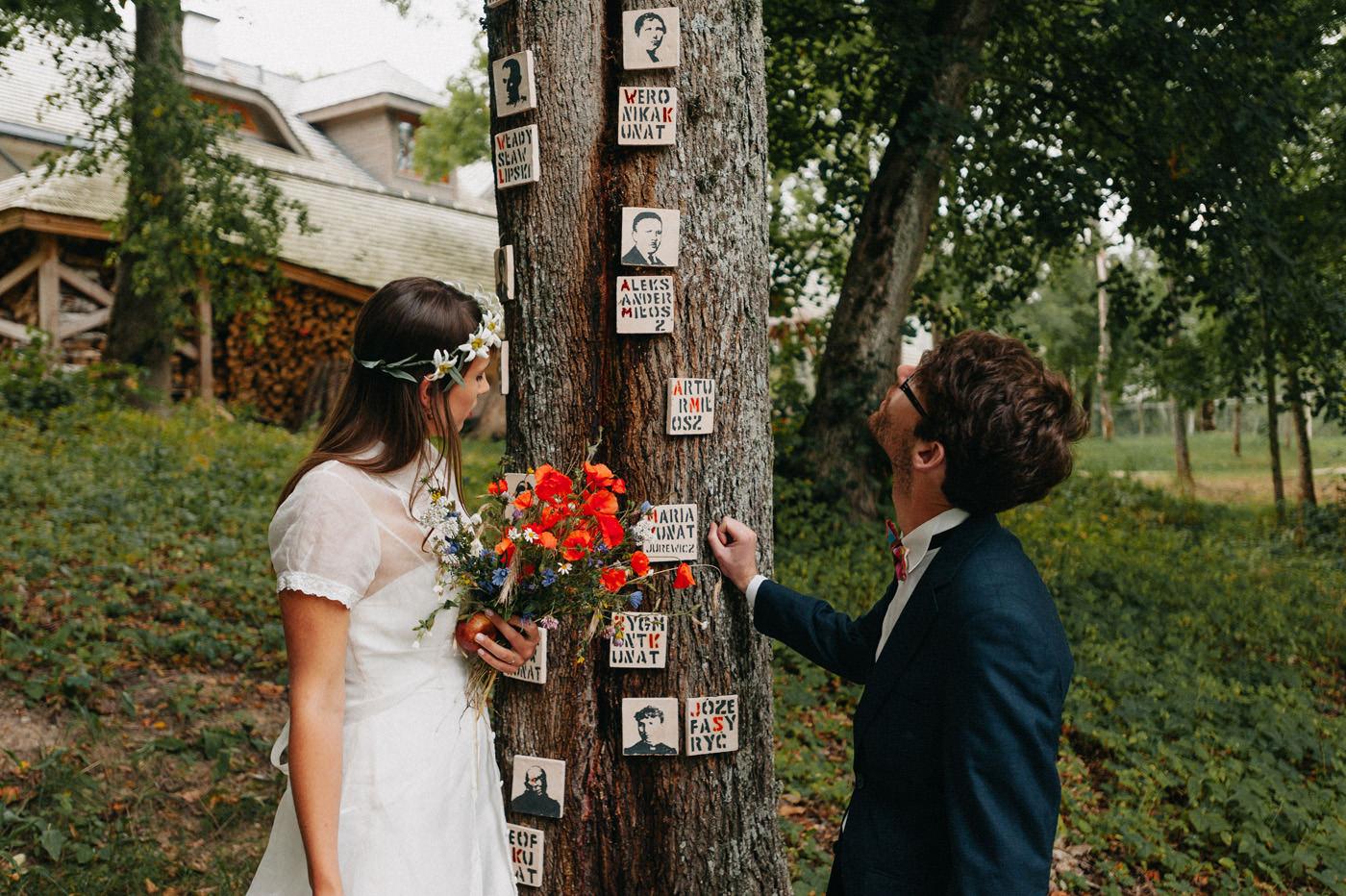 naturalna sesja po ślubie