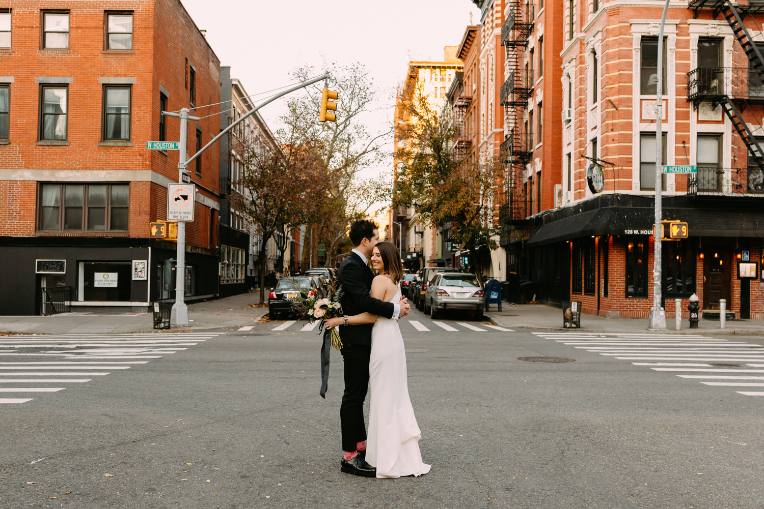 first look- new york city manhattan wedding