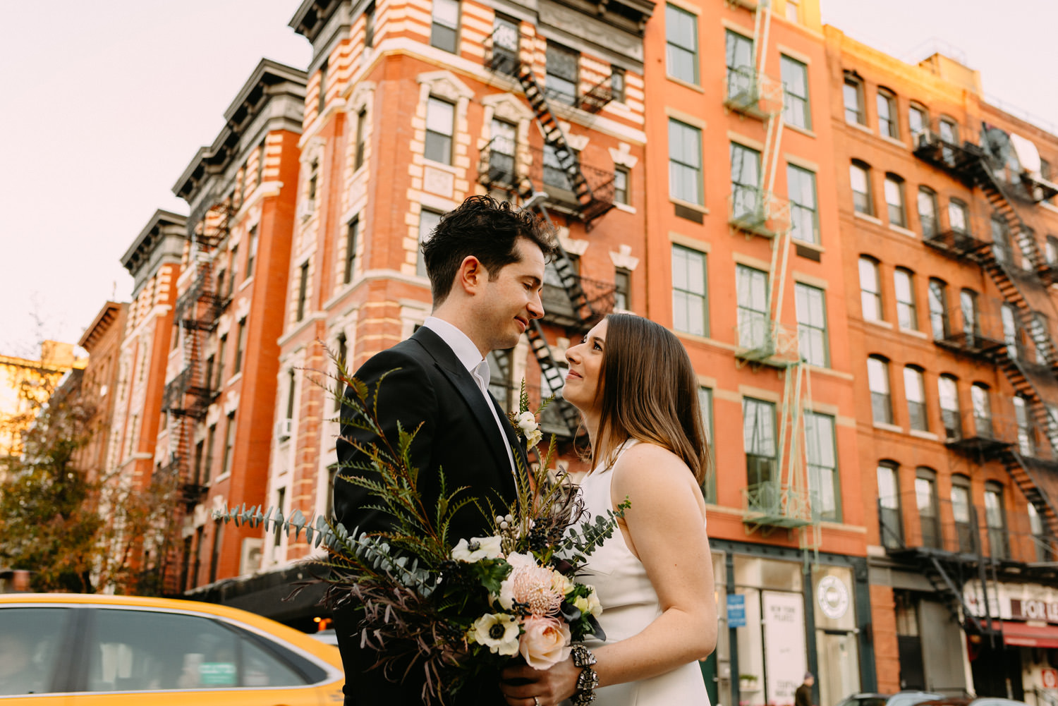 the first look- new york city winery wedding