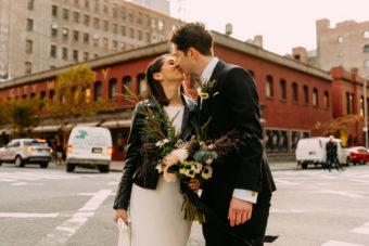 new york city winery- jewish wedding couple