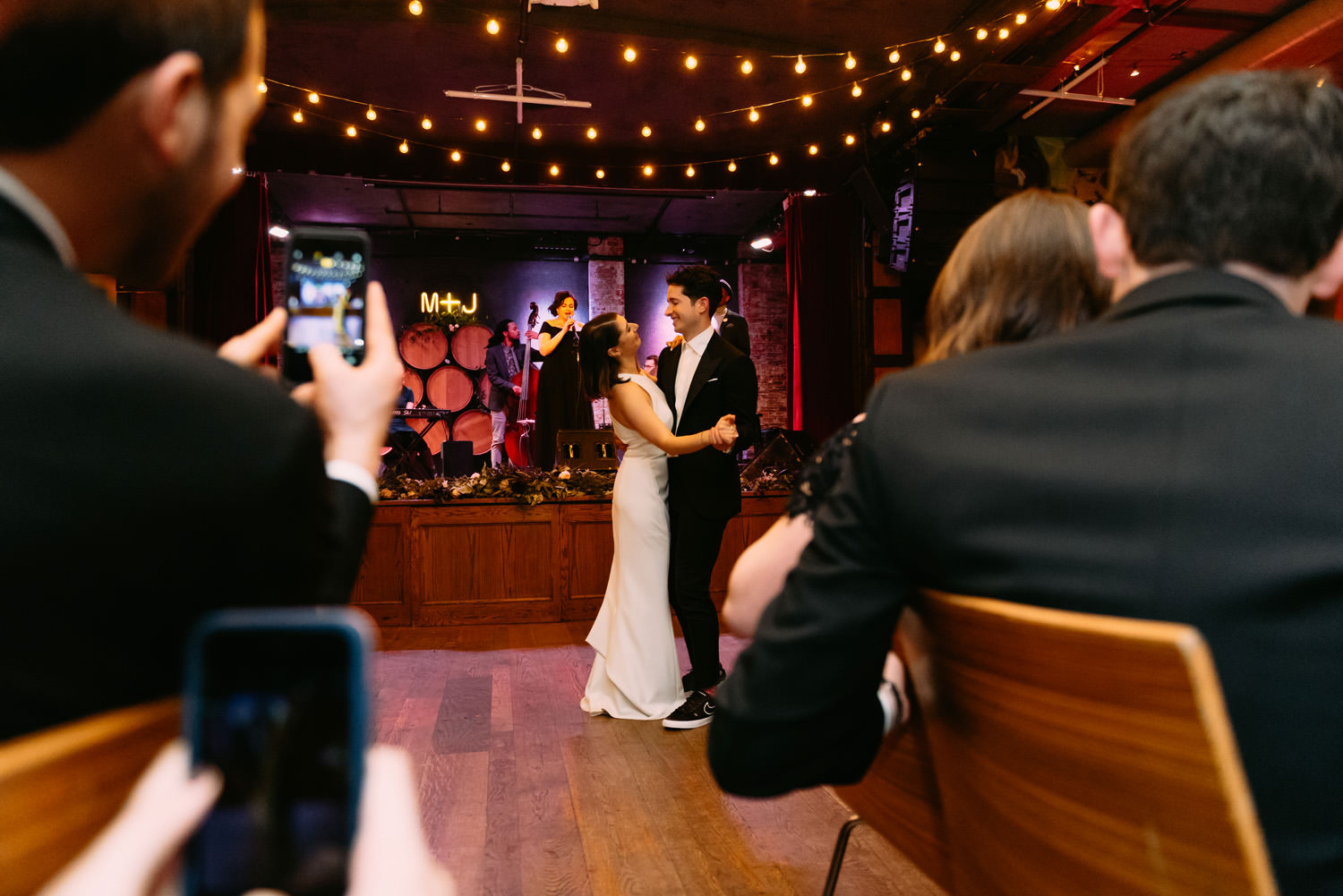 new york city winery wedding- first dance