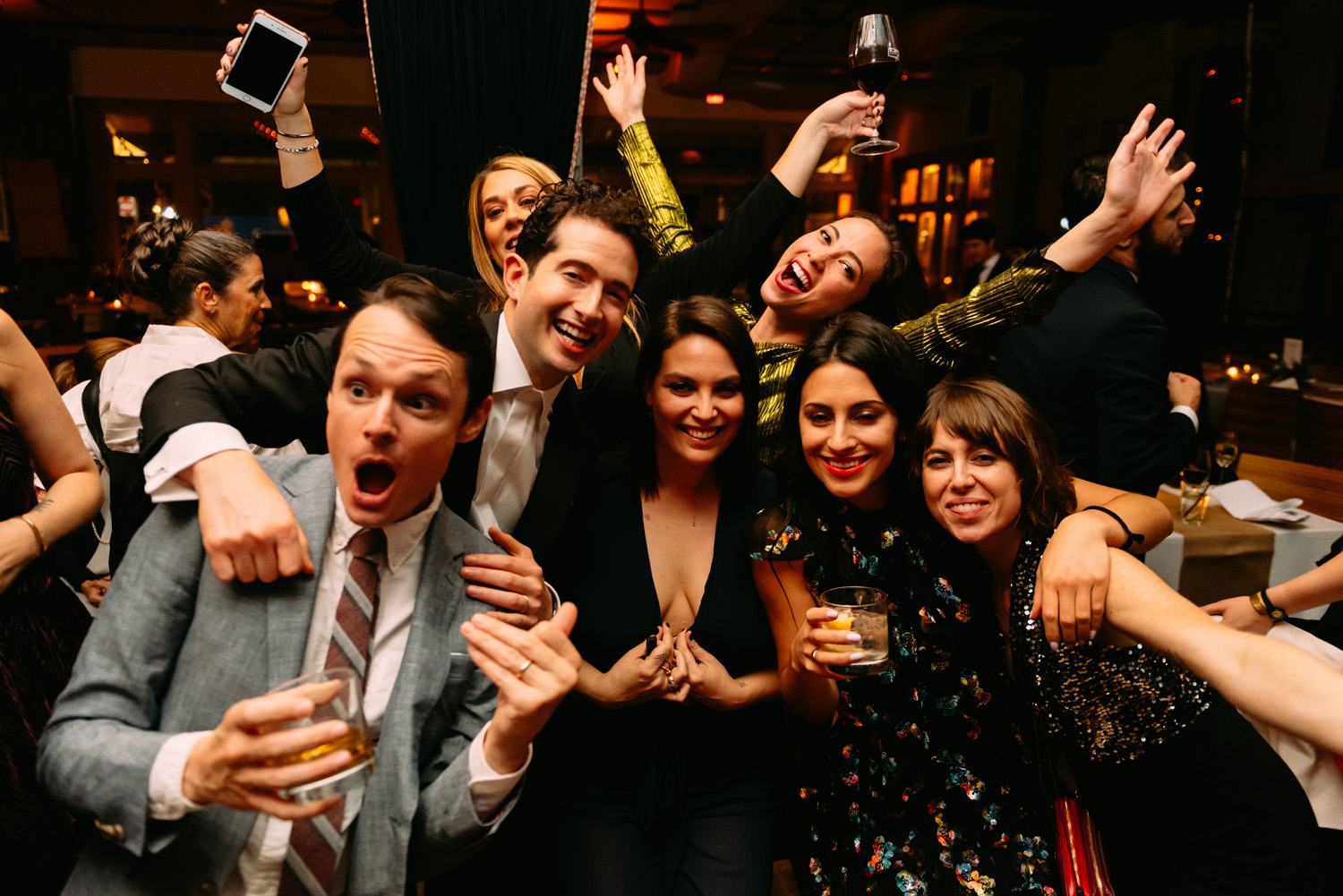 new york city winery wedding- party