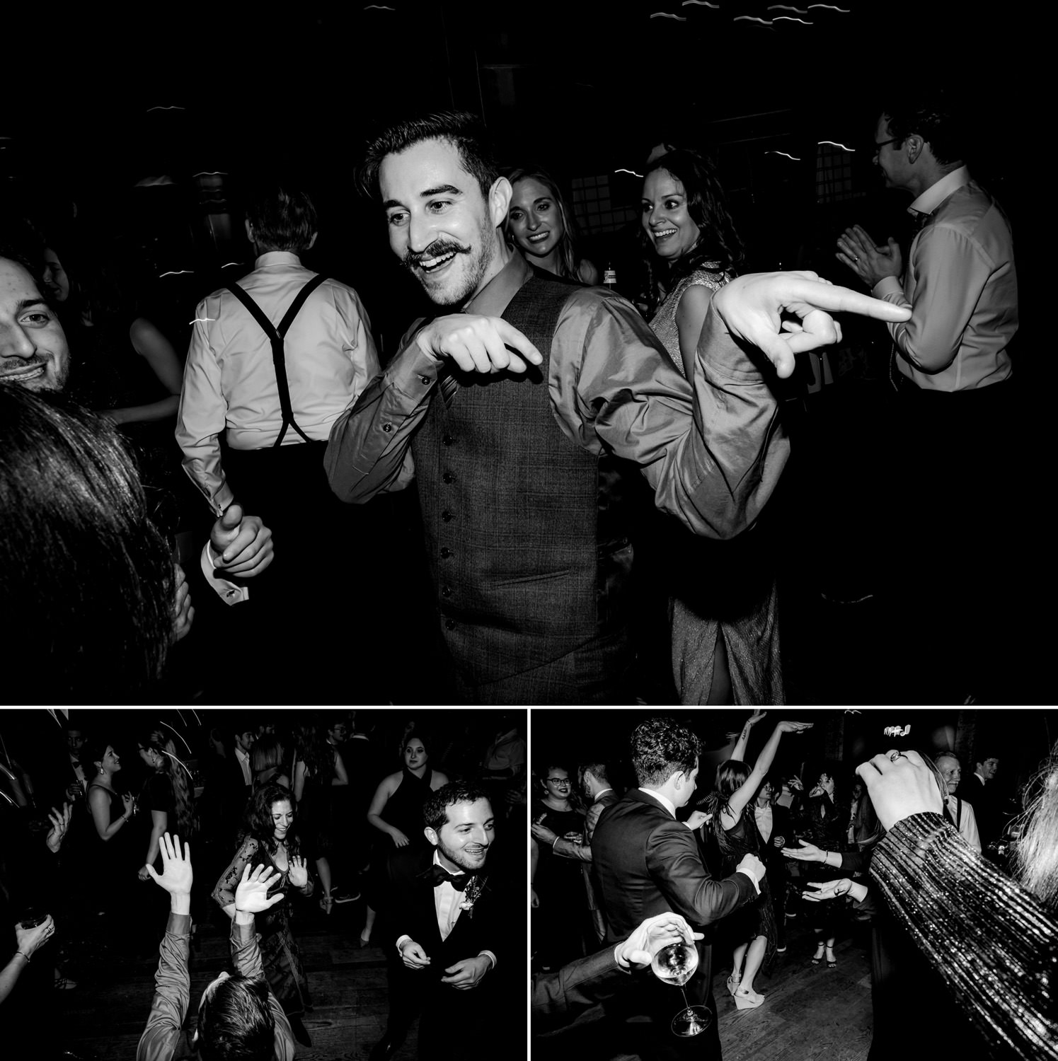 new york city winery wedding- crazy party on the dancefloor