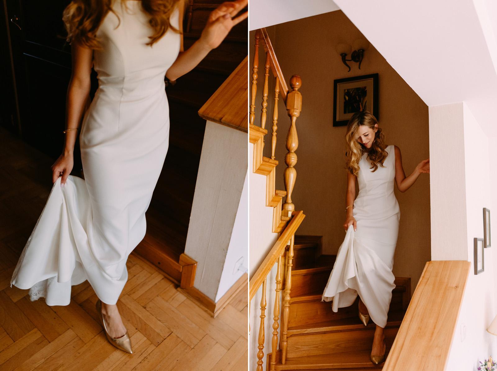 wesele w pałac zdunowo- piękna suknia ślubna- Luke Sezeck