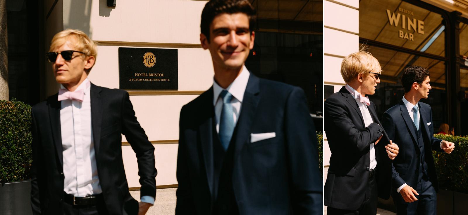 portret ślubny pana młodego w hotelu bristol- wesele pałac zdunowo- Luke Sezeck