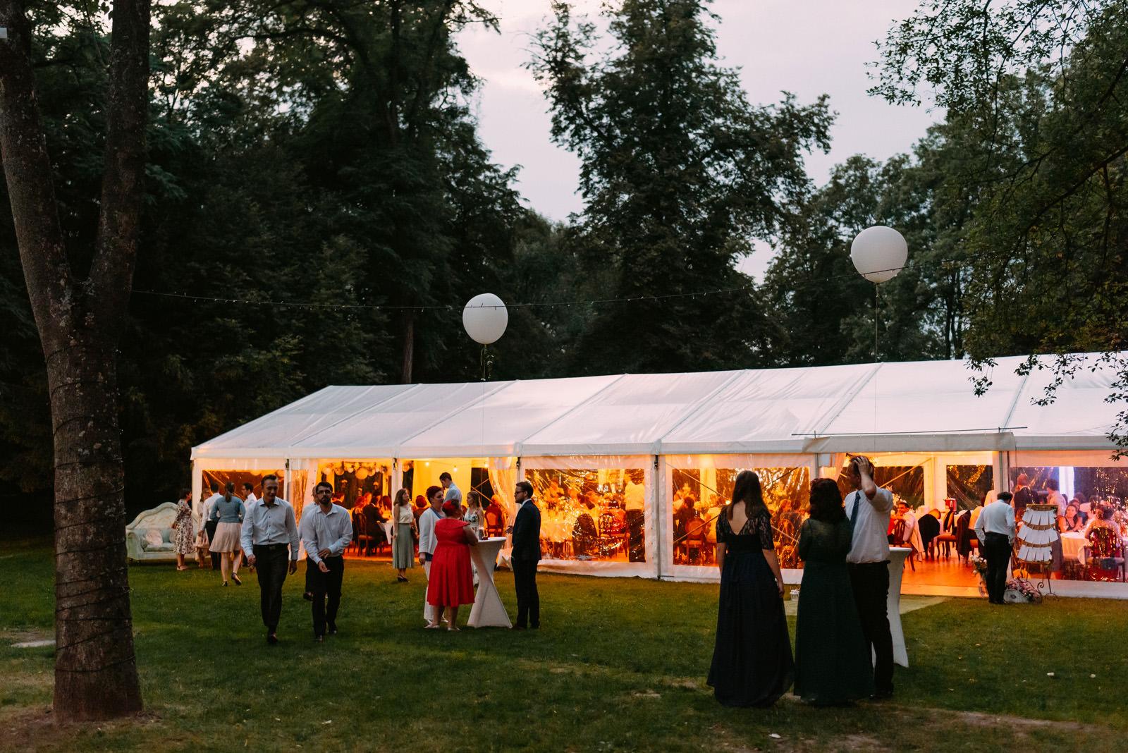 Namiot na wesele przed Pałacem Zdunowo- Luke Sezeck