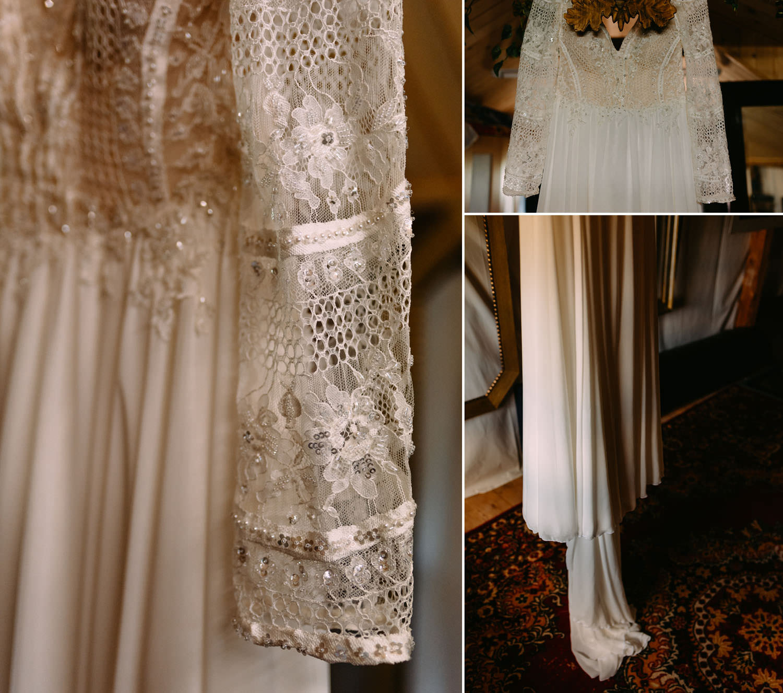 piękna suknia ślubna w stylu rustykalnym od Viola Piekut
