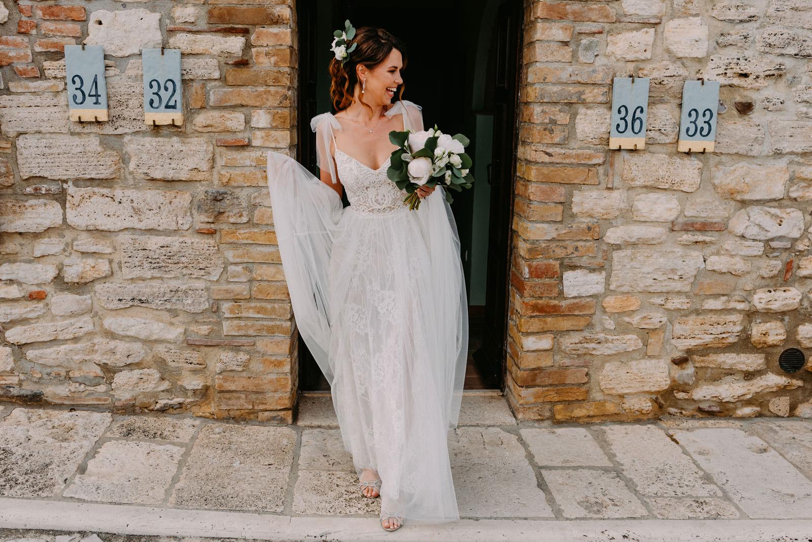 panna młoda przez ślubem we Włoszech