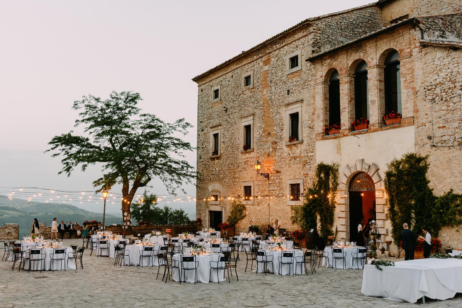 Castello di Titignano wesele