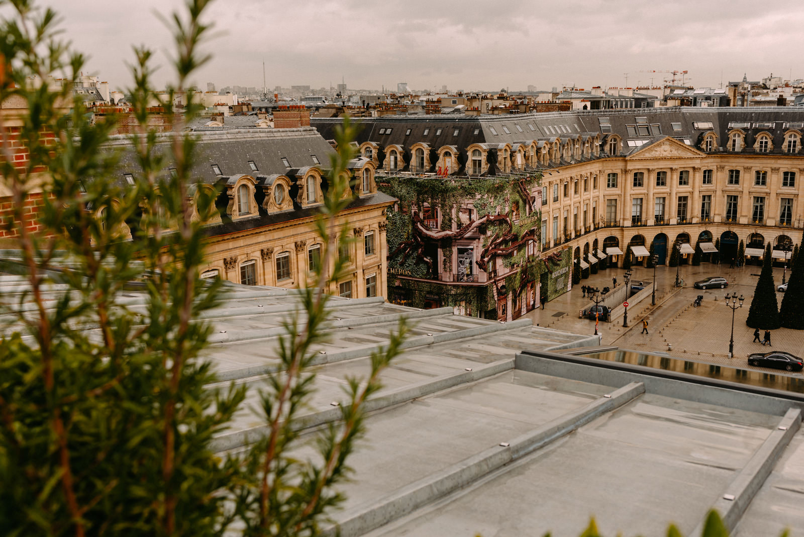Ritz Paris and city panorama by Luke Sezeck
