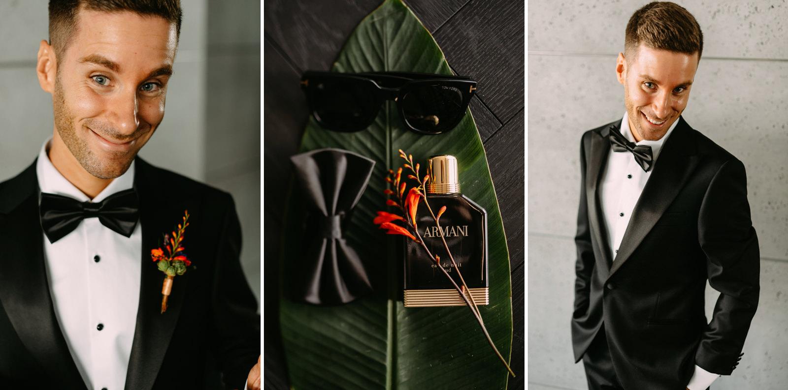 pan młody w dniu wesela w Reducie Banku Polskiego- Luke Sezeck fotograf ślubny warszawa