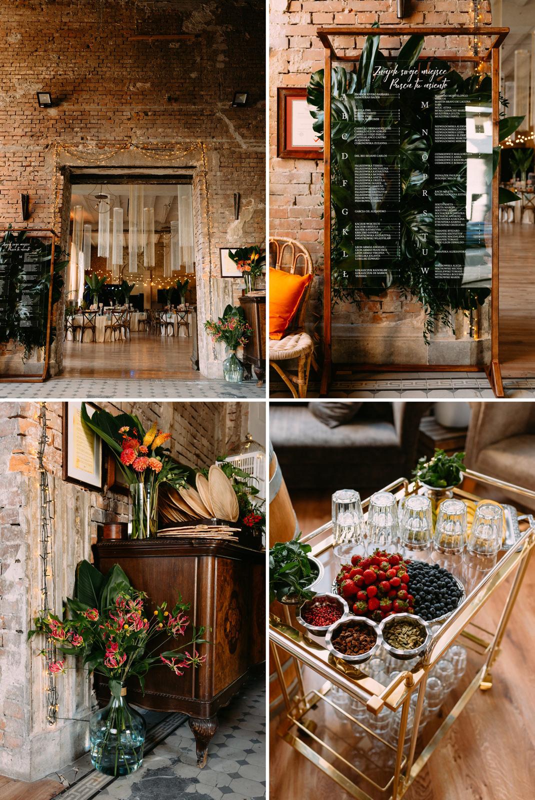 Oryginalne wesele w Reducie Banku Polskiego - boho dekoracje