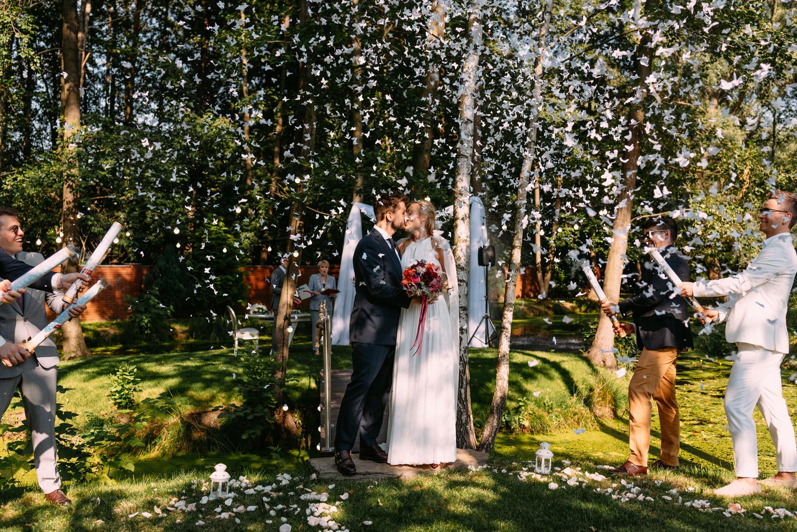 spektakularny ślub cywilny w ogrodzie, łódzkie
